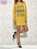 Szara sukienka z napisem NEW YORK CITY                                                                          zdj.                                                                         2