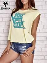 Żółta t-shirt oversize bez rękawów
