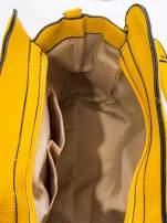 Żółta torba z klamrami z odpinanym paskiem