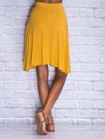 Żółta zwiewna spódnica midi                                                                          zdj.                                                                         5