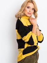 Żółto-czarny sweter Francesca                                  zdj.                                  3