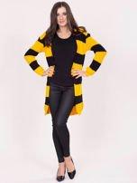 Żółto-czarny sweter w pasy                                  zdj.                                  4