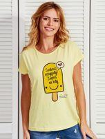 Żółty t-shirt damski SZUKASZ PRZYGODY? by Markus P                                  zdj.                                  1