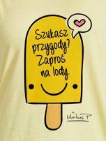 Żółty t-shirt damski SZUKASZ PRZYGODY? by Markus P                                  zdj.                                  2
