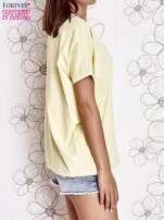 Żółty t-shirt oversize                                  zdj.                                  3