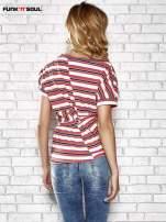 Żółty t-shirt w kolorowe paski FUNK N SOUL                                  zdj.                                  2