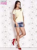 Żółty t-shirt z kokardą                                                                          zdj.                                                                         2